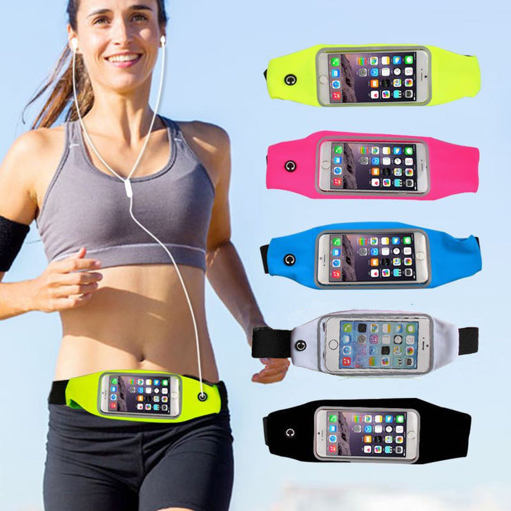 Portable Waterproof Belt Running Bag Travel Waist Pocket Pouch Jogging Sports Cycling Pack Bag Phone Bag For Mobile Cell Phone