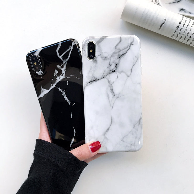 best service 5ec27 18409 Pretty Silicone TPU Cover Phone Couples Casing Glossy Marble Case For  IPhone XS Max XR X 6 6S 7 8 Plus 8Plus 7Plus Coque Fundas