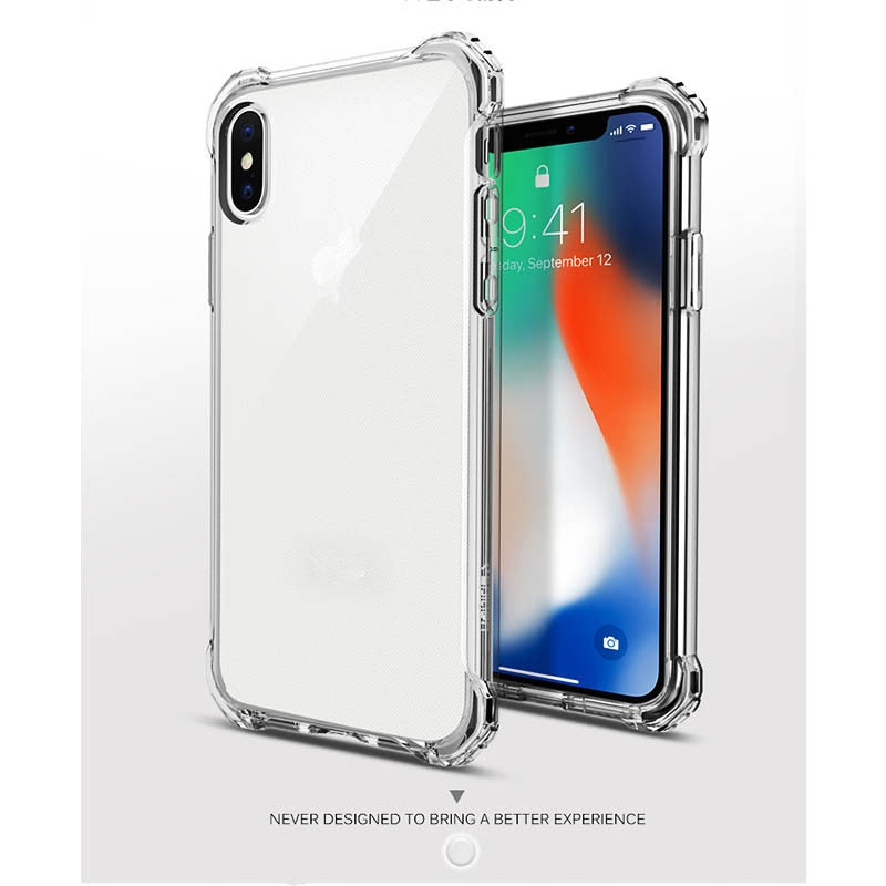 premium selection 1978e abc65 Pushinbest Ultra Thin Transparent Case For Apple IPhone X Soft Silicone  Clear TPU Phone Cover For IPhone X Protective Cover