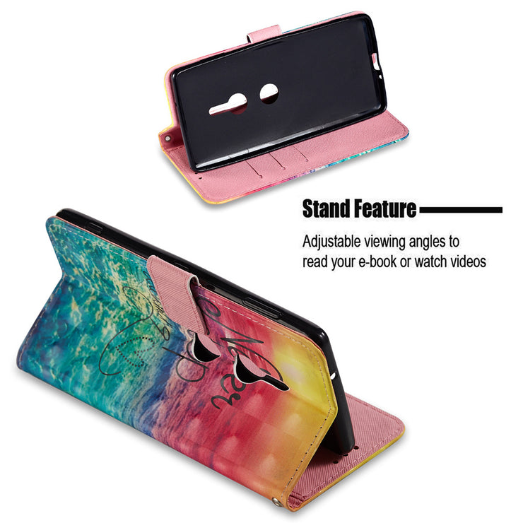RISIEA Flip PU Leather Case Wallet Cover For Sony Xperia XA1 XA2 Ultra Plus L2 XZ XZ1 XZ2 XZ3 Premium Compact Phone Case