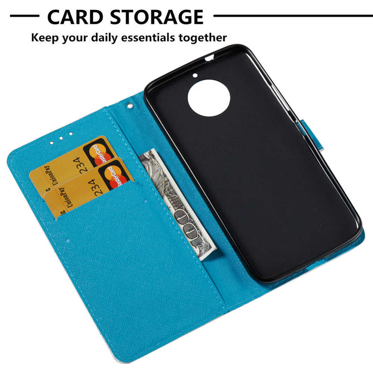 RISIEA PU Wallet Leather Flip Phone Case For Motorola Moto C Plus 2017 G5 E4 E5 G6 G5S Plus Z2 Play Case Cover