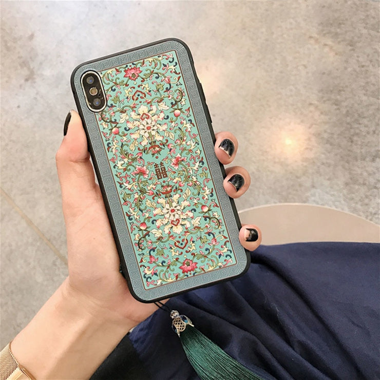 aefc0132f Retro Chinese Style Phone Case For Iphone 6 6s 7 8 Plus Case For Iphone X