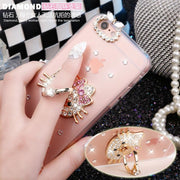 Rhinestone Diamond Hello Kitty Transparent Phone Cover For Xiaomi Mi Note Note 2 Mi Max Max 2 Mi Mix Pro Stand Holder Phone Case
