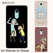 Rick And Morty Cartoon Soft Silicone Painting Case For Xiaomi Redmi 5/5 Plus Note 4 4X 5A Prime Y1 Lite Smart Phone Print Cover