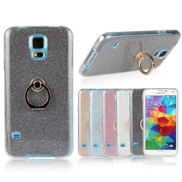 Ring Holder Back Cover For Samsung Galaxy S3 S4 S5 Note 5 4 3 Case Luxury Glitter Rubber Shell Capa Hoesjes Etui Capinhas Coque