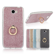 Ring Holder Case For Huawei Y6 II Y5 Ll Y3 2 Back Cover Luxury Glitter Stand Shell Sfor Y6II Compact Coque Hoesje Etui Capinhas