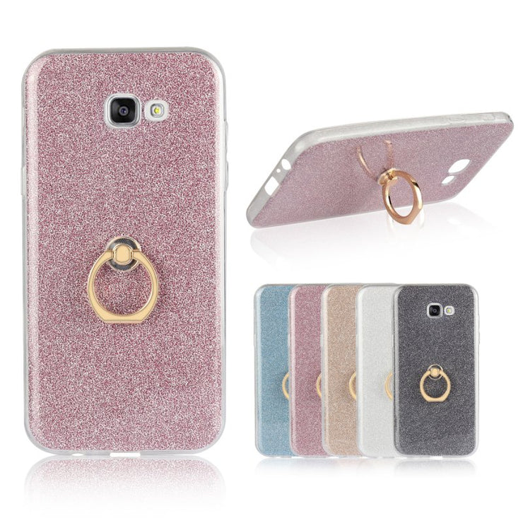 Ring Holder Case For Samsung Galaxy A3 A5 A7 2017 2016 2015 Back Cover Luxury Glitter Shell Gel Capinha Coque Capa Hoesjes Etui