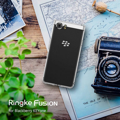 Ringke Fusion For Blackberry KEYone Case Key 2 Silicone Flexible Tpu And Transparent Hard PC Back Cover Hybrid Key2 Case