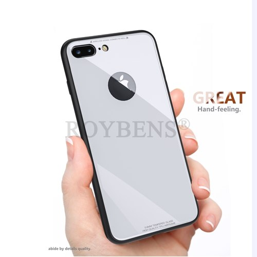 huge discount 3575c 6694b Roybens For IPhone 6 6S Case Luxury Back Temper Glass Screen Protector For  IPhone 7 Plus 6S Plus Case Soft TPU Edge Hybrid Cover