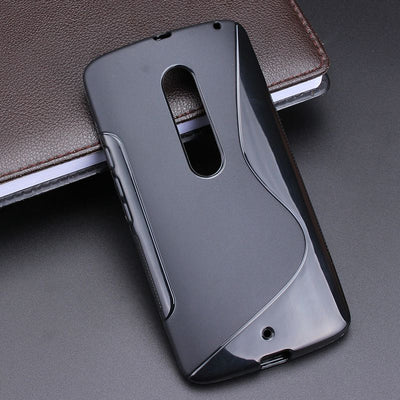 S Line Anti Skidding Gel TPU Slim Soft Case Back Cover For Motorola Moto X Play XT1561 XT1562 Mobile Phone Rubber Silicone Bag