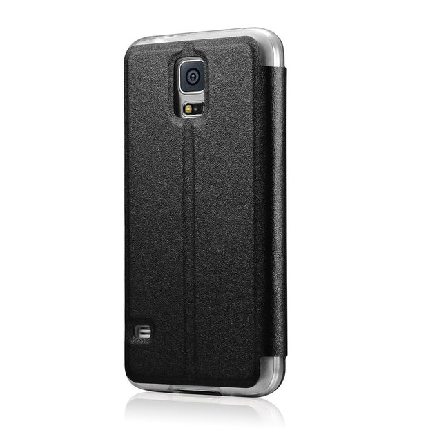 S6 Window View Leather Case For Samsung Galaxy S6 G9200 / S6 Edge G9250 Flip Magnetic Sliding Answer Call Fundas Cover Coque