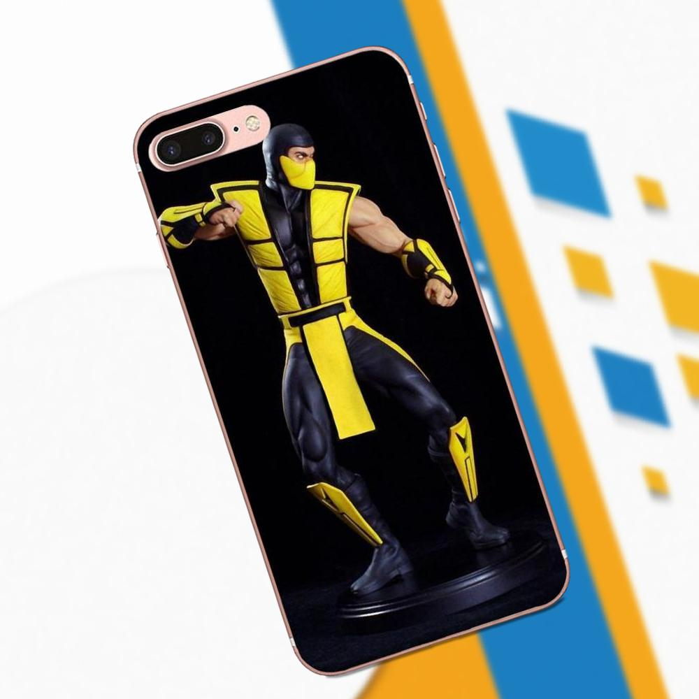 Scorpion In Mortal Kombat X For LG Nexus 5 5X G2 G3 Mini Spirit G4 G5 G6 K4 K7 K8 K10 2017 V10 V20 V30 Stylus Soft Capa Case