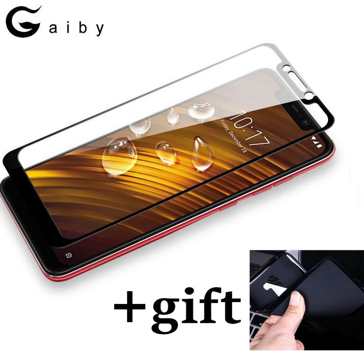 Screen Protector + Soft TPU Case For Xiaomi F1 Cases 9H Full Cover Tempered Glass For Xiaomi Pocophone Poco F1 Phone Capa Coque