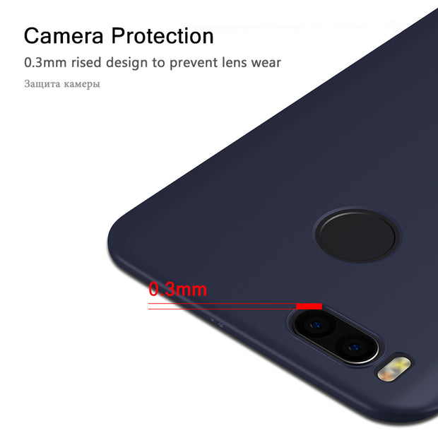 Silicon Case For Xiaomi Mi A1 Case Matte Luxury Back Cover Shockproof Armor Bumper Protective Soft For Xiaomi Mi A 1 MiA1 Case