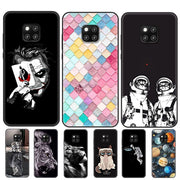 Silicone Case For Huawei Mate 20 Pro Case 6.39 Black Print Joker Soft TPU Back Cover For Huawei Mate 20 Mate20 Pro Phone Cases