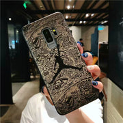 Silicone Case For Samsung Galaxy Note 9 8 S9 S8 Plus Michael Air Jordan Cover For Huawei Honor 7A Pro 7C Honor10 9 Mate 10 Coque