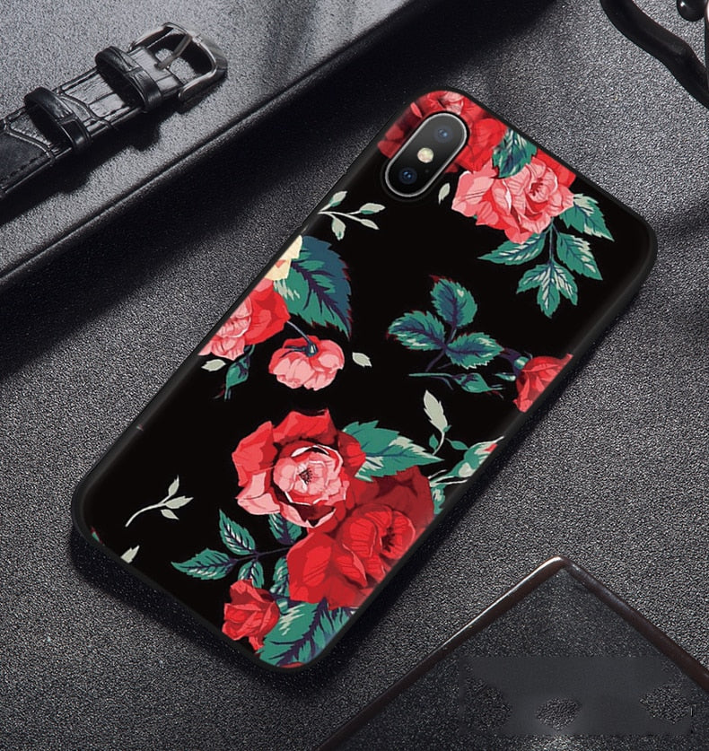 Silicone Cover Coque Phone Cases For IPhone 6 6S 8 7 Plus X 5 5S SE For Fundas IPhone XS Max Case TPU Cartoon Pattern Back Capa
