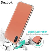 Snzvok 10 Pcs/lot Airbag Anti-knock Transparent Soft TPU Case For IPhone 6 6S 7 8 Plus Back Cover For IPhone X XR XS Max 5 5S SE