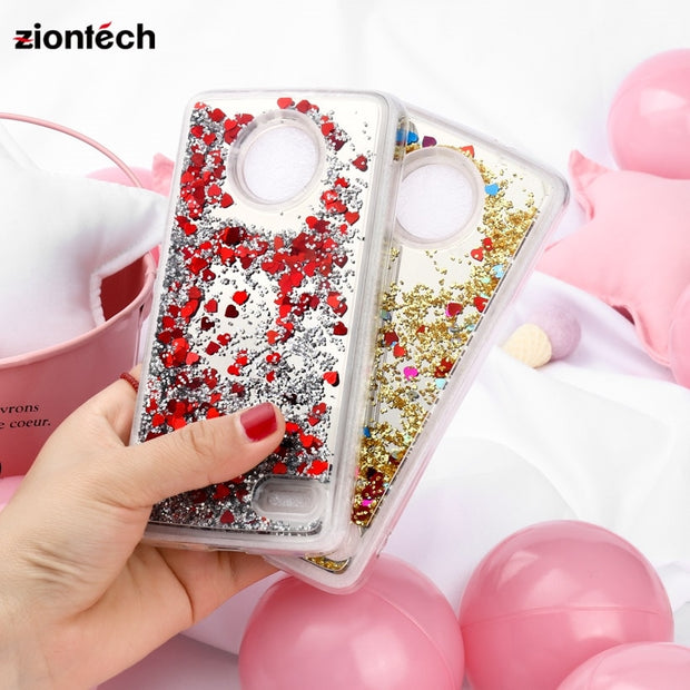 SoapTree Cases For Moto E4 PLUS European Case Back Cover Moto X4 2017 Dynamic Mirror Liquid Quicksand Covers