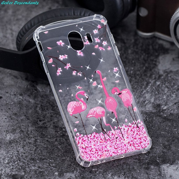 Soft Case SFOR Samsung Galaxy J4 2018 Luxury Silicone Cases Colorful Airbag Shockproof Back Cover FOR Samsung J4 2018 Phone Case