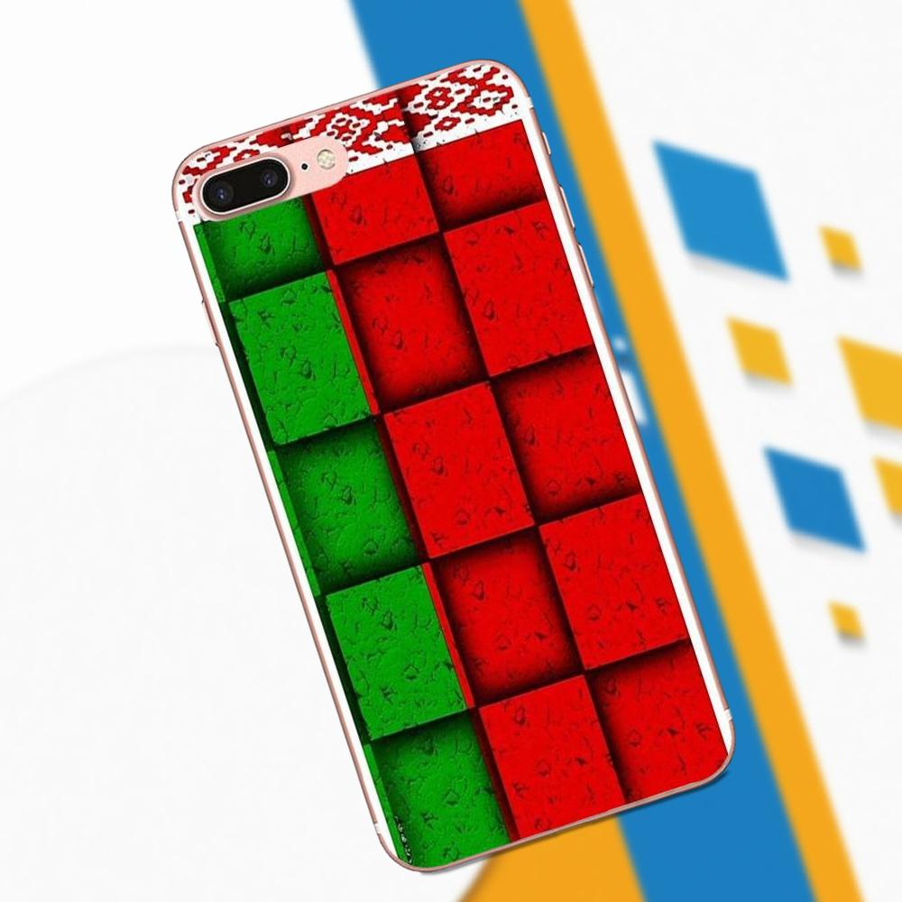 Soft Mobile Cases Covers For Huawei P7 Honor 4C 5A 5C 5X 6 6C 6A 6X 7 7X 8 9 V8 V10 Y3II Y5II Y6II G8 Play Lite Belarus Flag