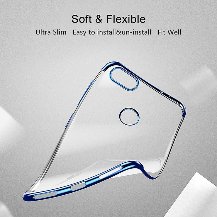 Soft Silicone Plating Case For Huawei P Smart Case Transparent Protective Back Cover Case For Huawei P Smart Bumper Cover Case