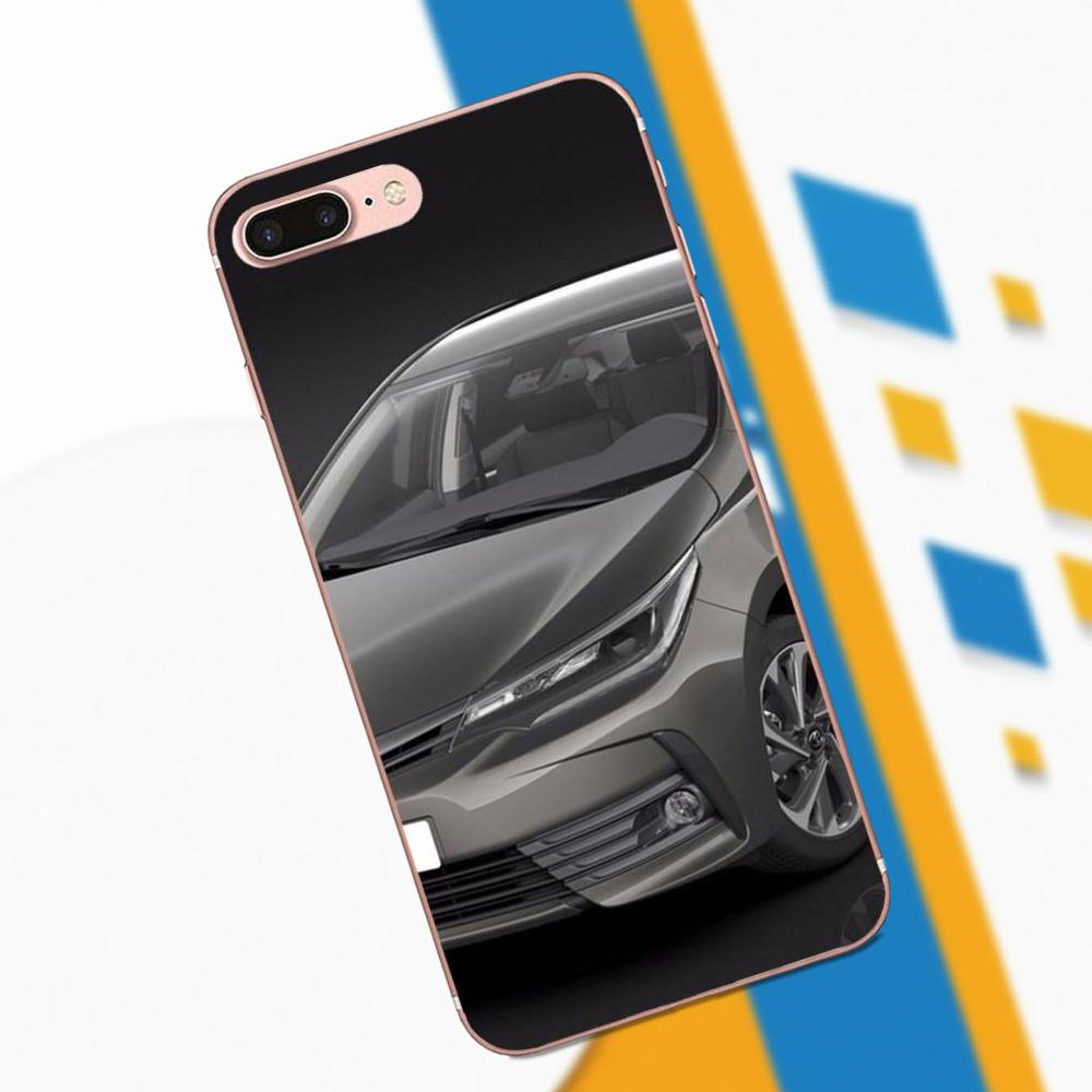 Soft Silicone TPU Transparent Phone Cover Case For Apple IPhone 4 4S 5 5C 5S SE 6 6S 7 8 Plus X XS Max XR Car Toyota Corolla