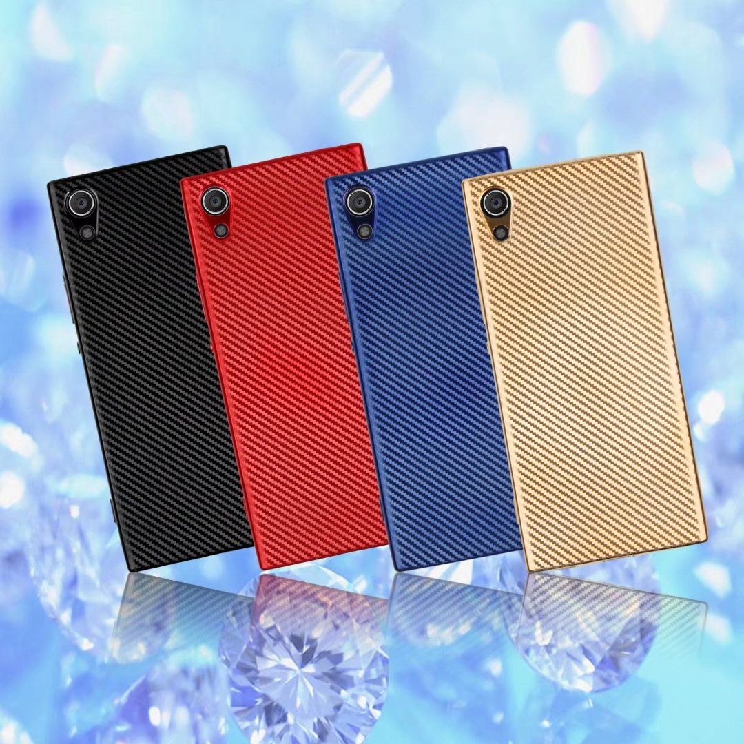 Soft Silicone Case For Sony Xperia XA1 Luxury Carbon Fiber Slim Protective Back Cover For Sony XA1 Phone Shell Housing