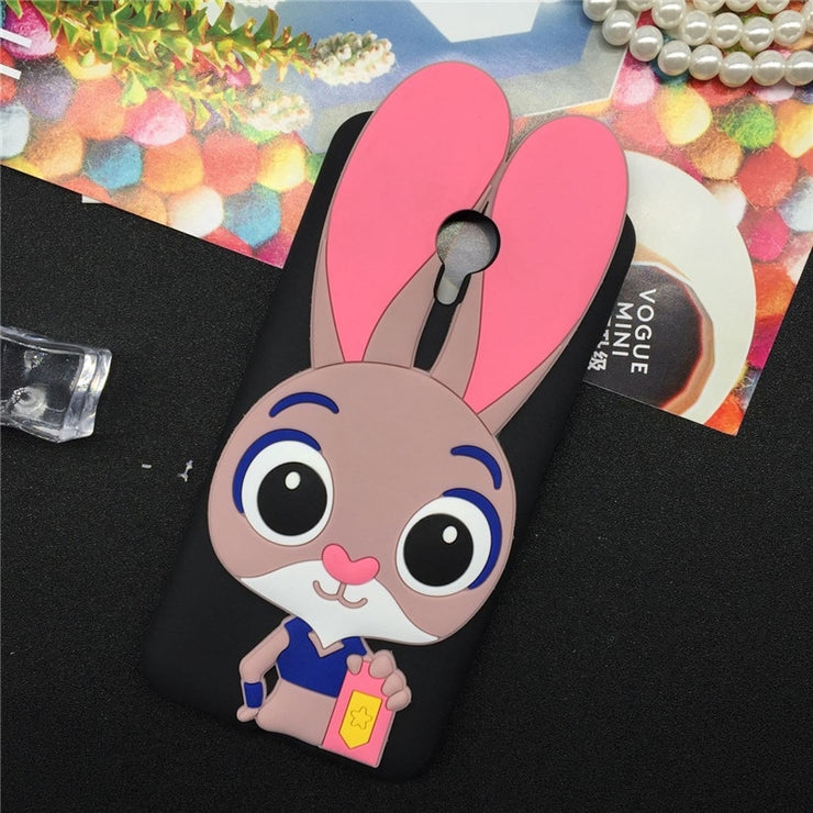 Soft TPU Case For ZTE Blade A320 Cool Rabbit Cartoon Design Soft