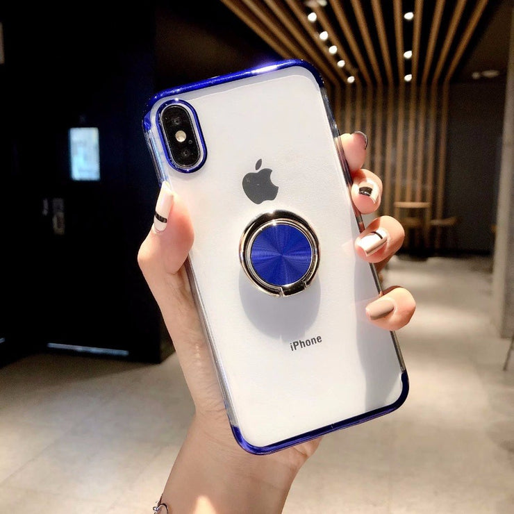 Soft TPU Colorful Finger Ring Stands Phone Back Cover Case For IPhone XS XR/XS Max X,For IPhone 7/7 Plus,For IPhone 8/8 Plus