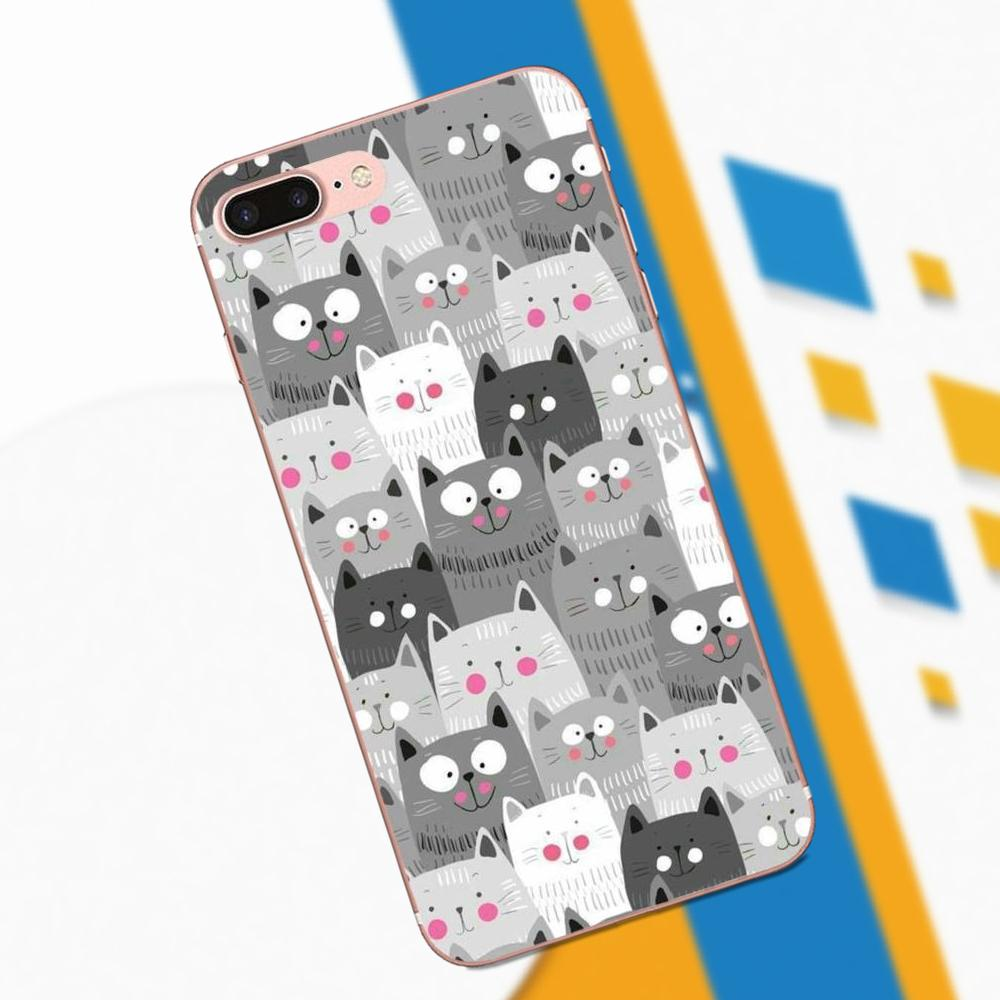 Soft TPU Mobile Cases Covers For Xiaomi Redmi Note 2 3 3S 4 4A 4X 5 5A 6 6A Pro Plus Russia Cartoon Kid E Cats Poster