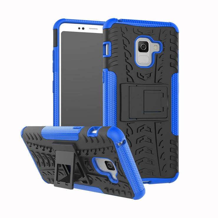 Sunjolly Tough Armor Duty Phone Cases PC+TPU Holder Cover Hybrid Silicone Fundas For Samsung Galaxy A8 Plus 2018
