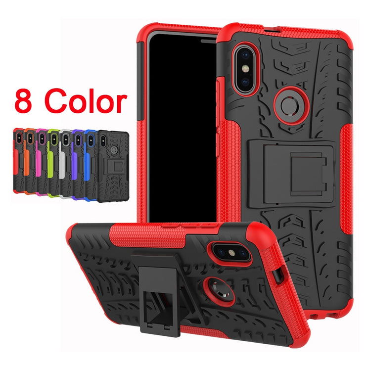 Sunjolly Tough Armor Duty For Redmi Note5 Phone Cases PC+TPU Holder Cover Hybrid Silicone Fundas Coque For Xiaomi Redmi Note 5