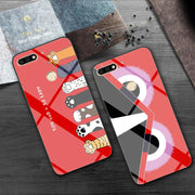 Superman Tempered Glass Phone Case For Huawei Honor 7C Cases Y7 Pro 2018 Captain America TPU For Huawei Y7 Prime 2018 Good Cover