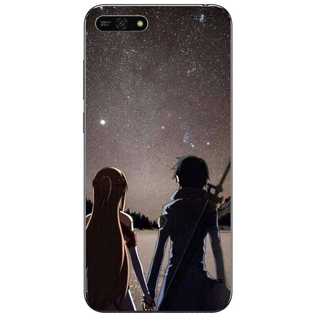 Sword Art Online SAO Anime Manga Soft Silicone Painting Case For Huawei Honor 7s 8 9 10 Lite 6A 6C 7A 7C Pro Phone Printed Cover