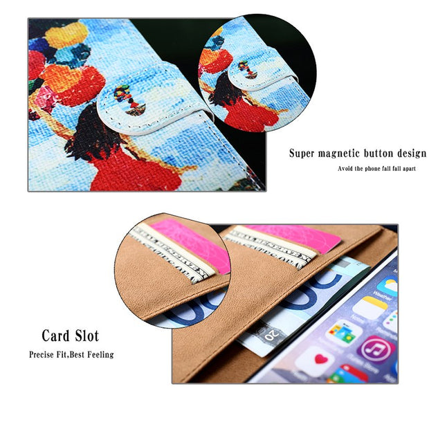 TAOYUNXI PU Leather Case For Moto X4 2017 Case Flip Wallet DIY Cases For Motorola Moto X4 2017 Cover Coque Flower XT1900-1 5.2