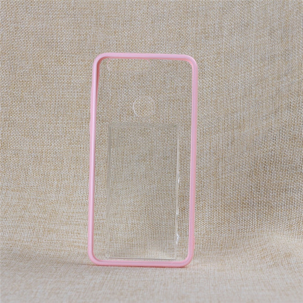 TENENELE Case For Huawei Honor 8 Cases Soft Clear Black Pink Silicone TPU Case Simple Cover Honor8 Coque Phone Case