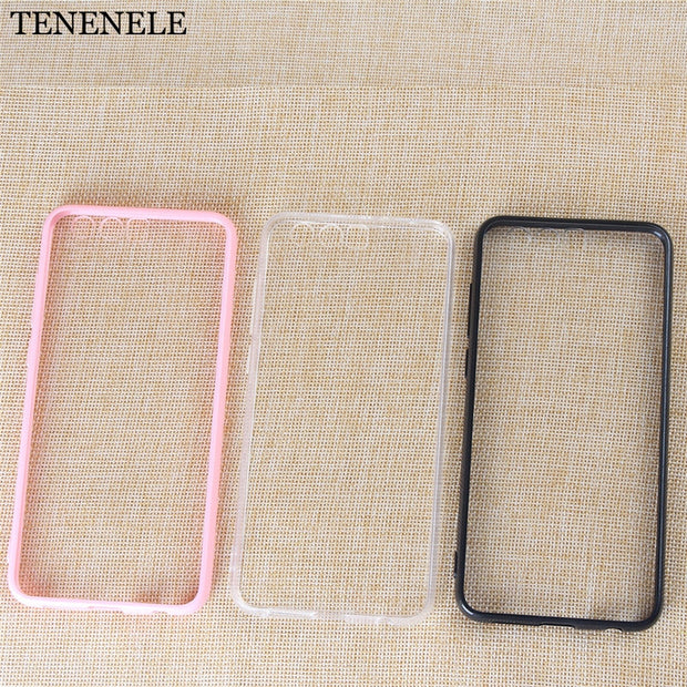 TENENELE Case For Huawei Honor 9 Cases Soft Clear Black Pink Silicone TPU Case Simple Cover Honor9 Coque Phone Case