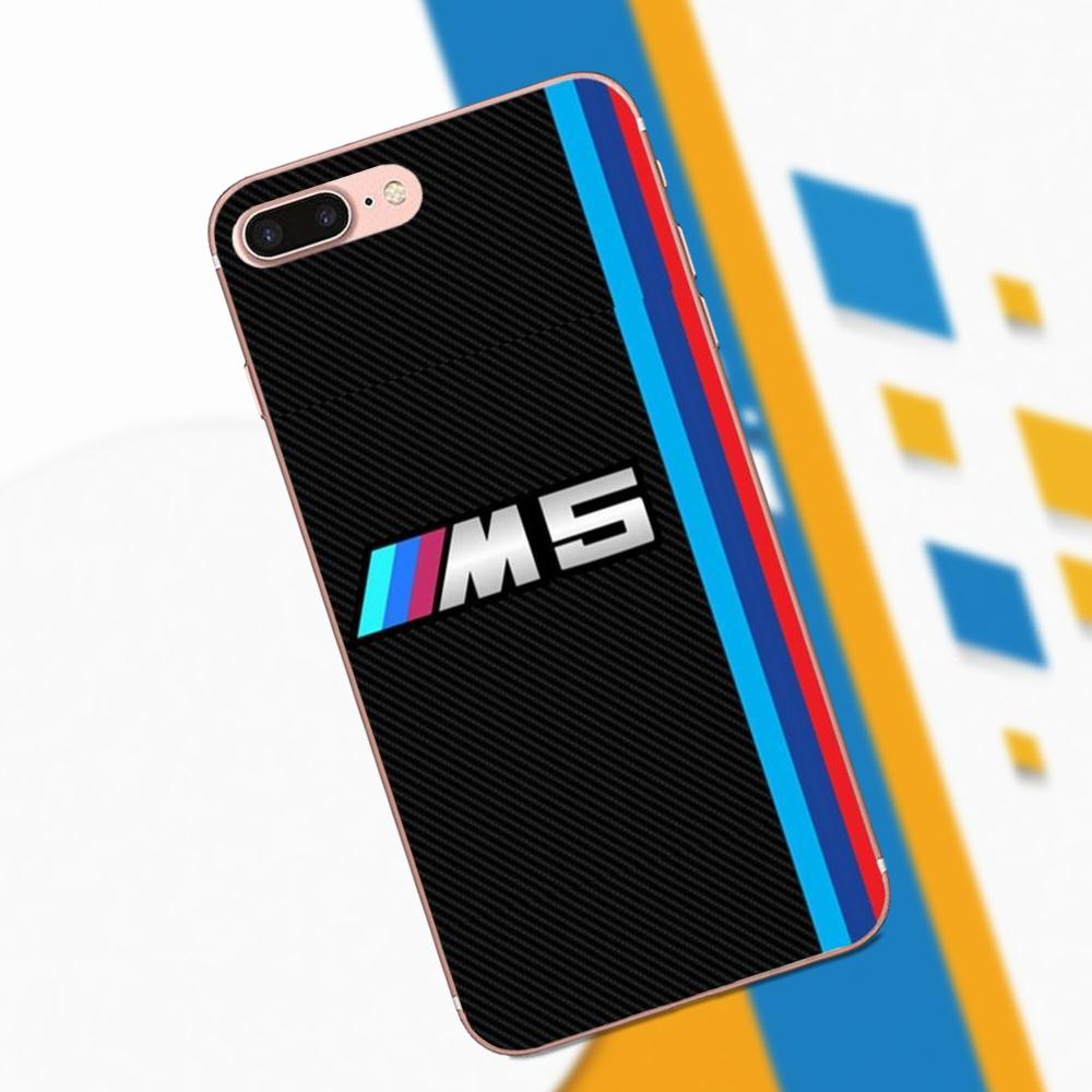 TPU Capa Cool Bmw M5 Car Logo For Apple IPhone X XS Max XR 4 4S 5 5C 5S SE 6 6S 7 8 Plus