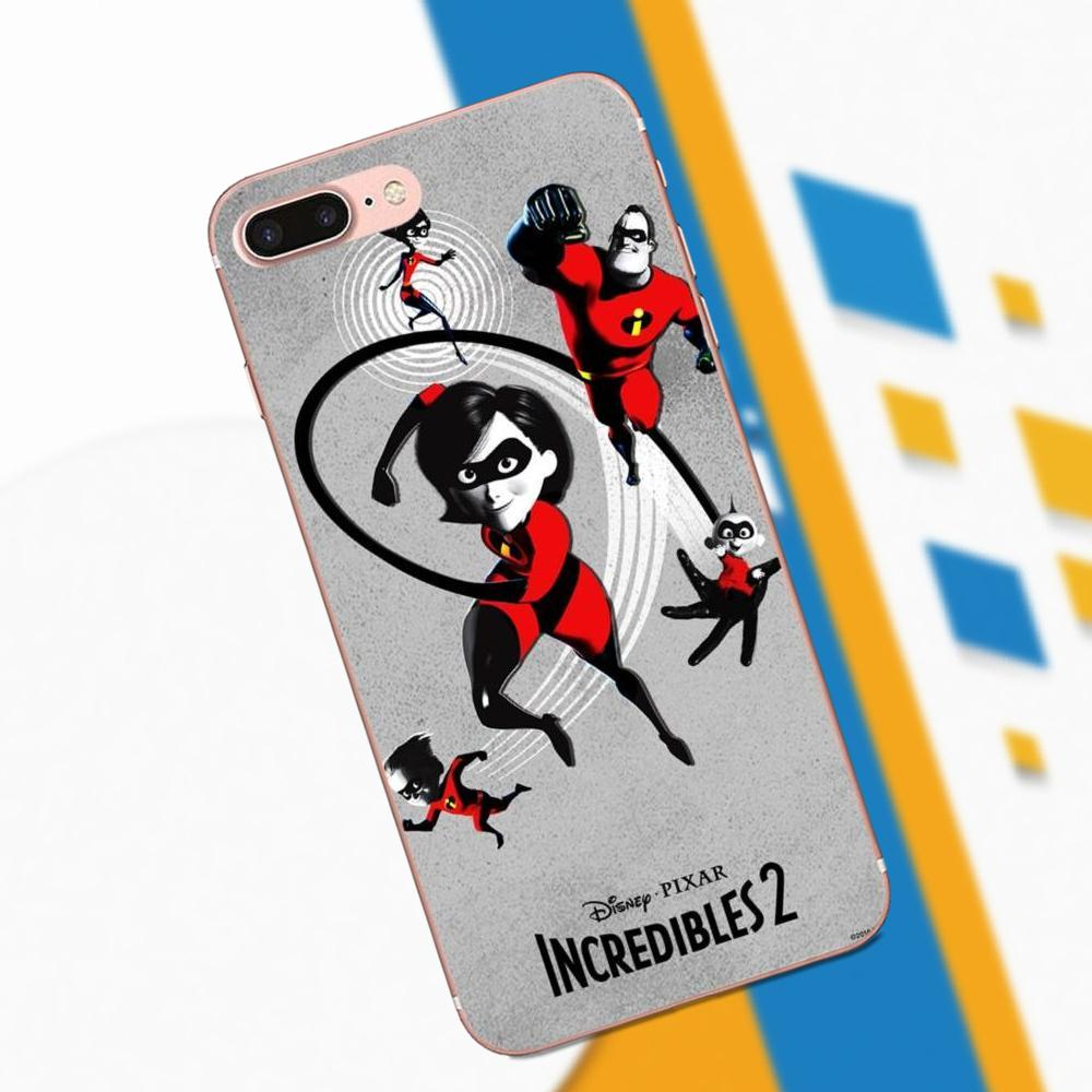 TPU Cover Case Cartoon Incredibles 2 Poster For HTC 530 626 628 630 816 820 One A9 M7 M8 M9 M10 E9 Plus U11 Moto G G2 G3 G4 G5