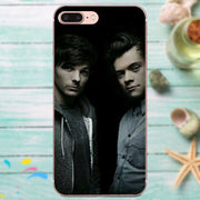 TPU Pattern Phone For Apple IPhone 4 4S 5 5C 5S SE 6 6S 7 8 Plus X XS Max XR Larry Stylinson Drawing Nobody Can Drag Me Down
