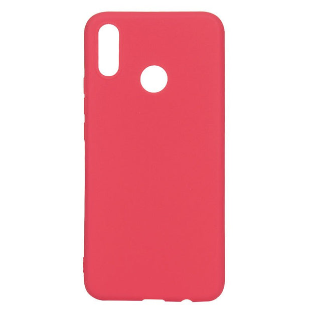TURATA Colorful Silicone Case For Huawei P Smart Plus Case Simple Candy Color Soft TPU Back For Huawei P Smart + Phone Case