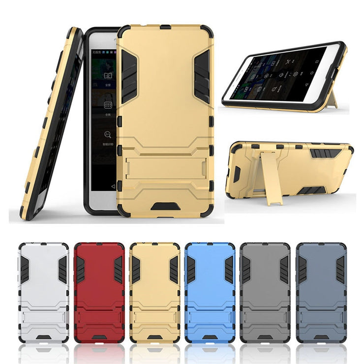 TaryTan 2 In 1 Armor Phone Bags Cases For Huawei P10 Case Victoria 4G LTE Silicon PC Armor Hybrid Defender 2 In 1 Combo Cover