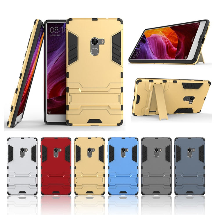 TaryTan 2 In 1 Armor Cases Armor Phone Case For Xiaomi Mi Mix Case Hybrid Kickstand Bracket Back Cover Housing Coque Shield Hood