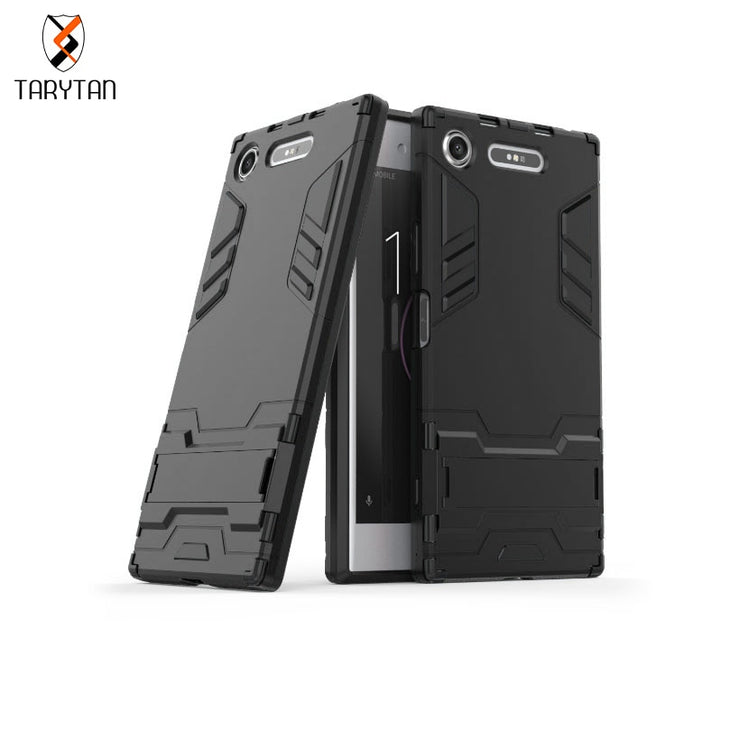 TaryTan 2 In 1 Armor Cases Cool Armor Case For Sony Xperia XZ1 Case Silicon Shockproof 2 IN1 Hybrid For Sony XZ1 Cover Cases Bag