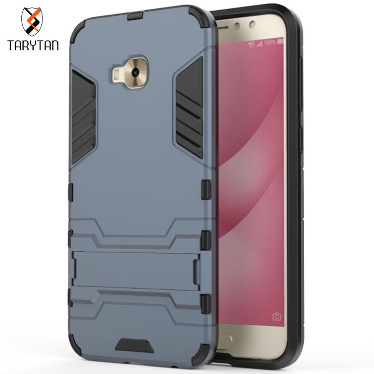 TaryTan 2 In 1 Armor Cases Kickstand Back Cover For Asus Zenfone 4 Case Selfie Pro ZD552KL PC+TPU 2in1 Hybrid Army Armor Shell