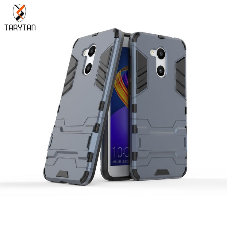 TaryTan Cool Case For Huawei Honor V9 Play Case 2 In 1 Armor Cases Silicon Shockproof Hybrid Cases For Huawei Honor 6C Pro Capa