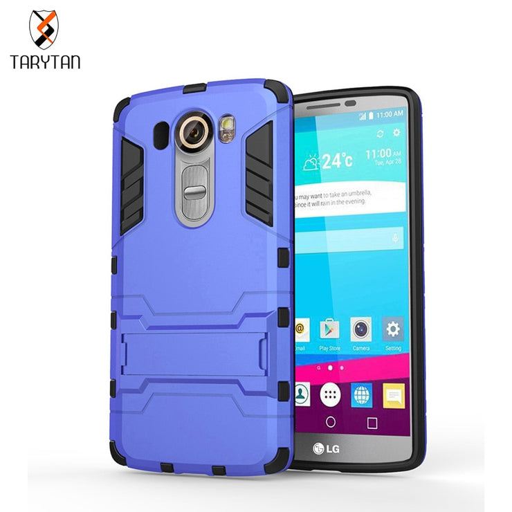 TaryTan TPU+PC Hybrid Kickstand 2in1 Mobile Phone Case For LG Optimus G4 Pro LG V10 F600 H900 Dual SIM H961N LTE 4G F600L Cover