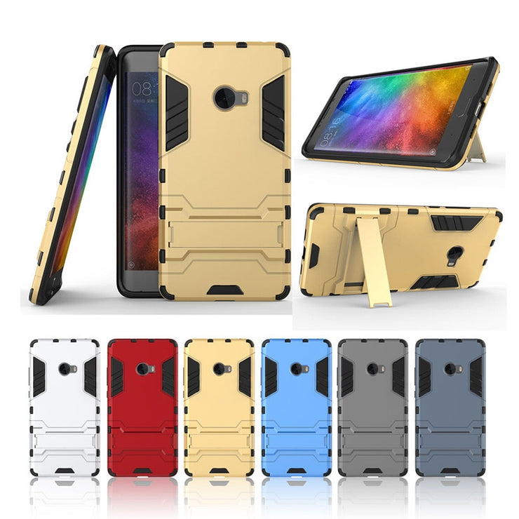 TaryTan Cases Armor Phone Cover For Xiaomi Mi Note 2 Case Housing Fundas 2 In1 Bracket Back Cover For Xiaomi Note2 Fundas Skin