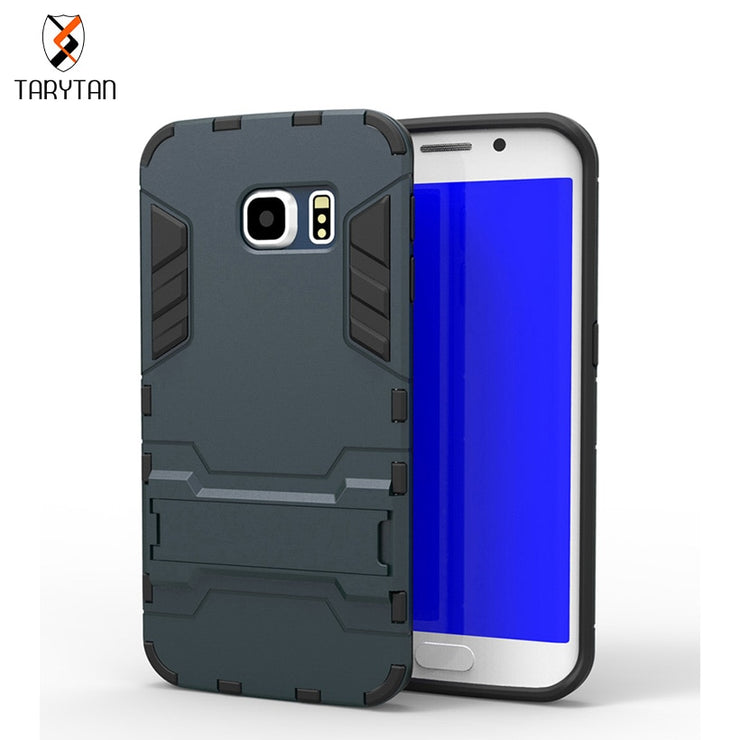 TaryTan Shell Phone Case For Samsung Galaxy SVI G9200 S6 S6 Edge G925 S6 Edge Plus G928F Case TPU + PC Hybrid Armor Dual Covers